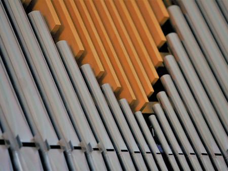 Billeder af piber på orgel
